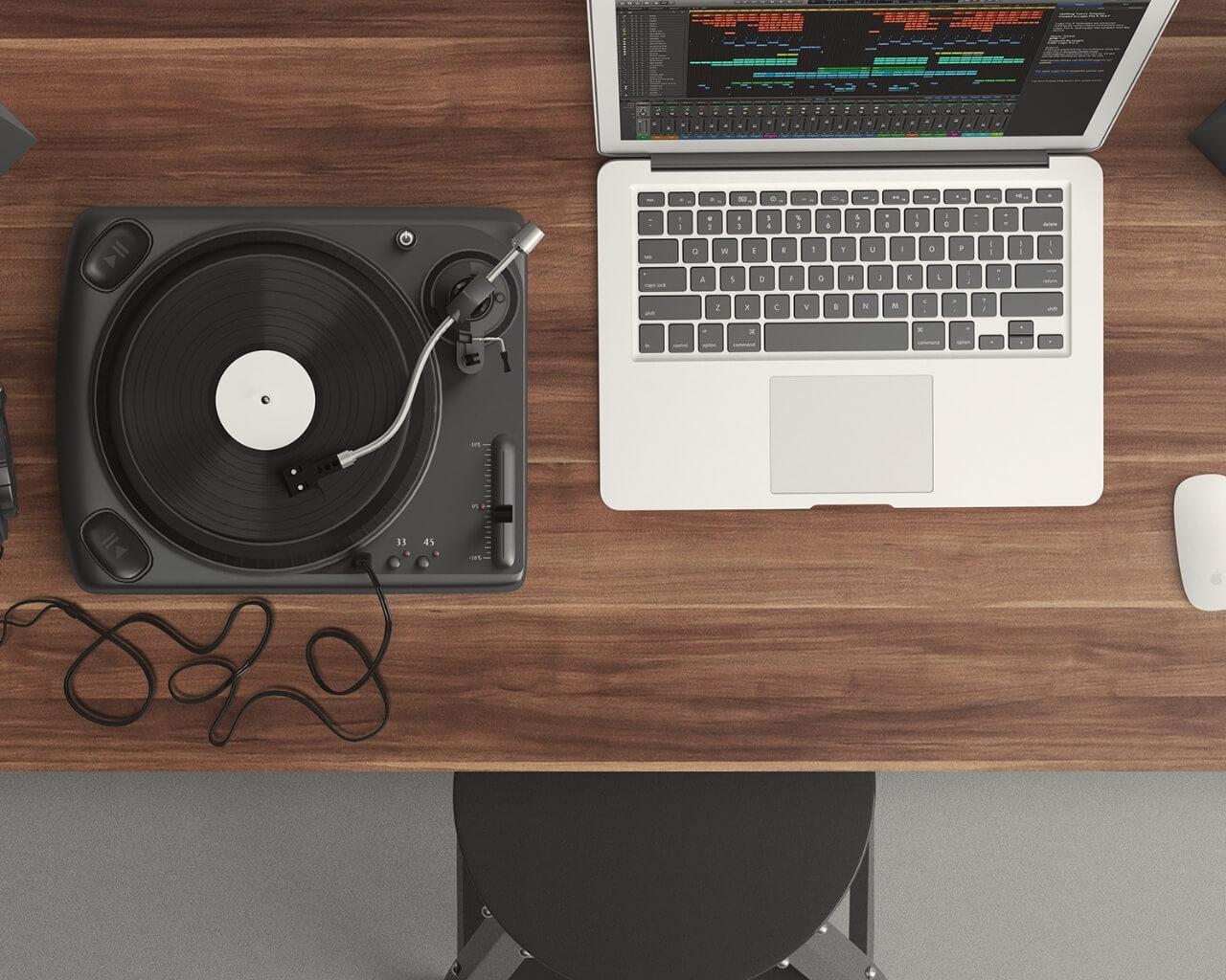 Music production desk